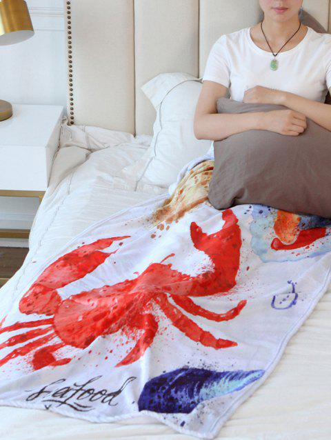 Crab Pattern Flannel Soft Bed Blanket - multicolor W51 INCH*L59 INCH