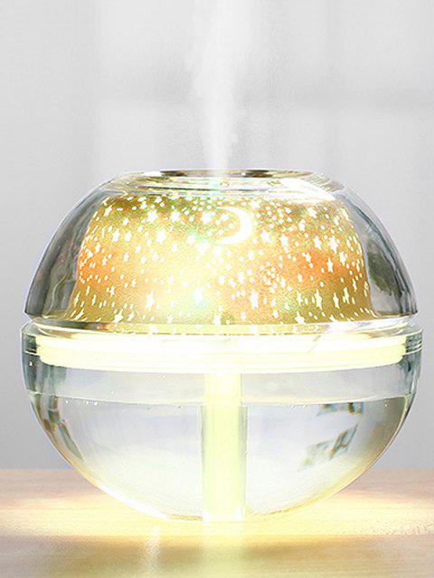 USB Ombre Color Starry Sky Warm Projection Lamp Humidifier - GOLD