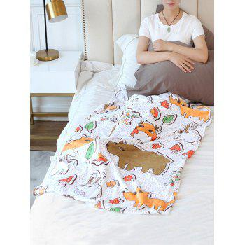 Animal Pattern Flannel Soft Bed Blanket - multicolor W59 INCH * L79 INCH