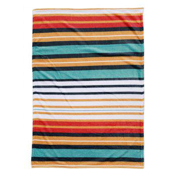 Striped Pattern Flannel Soft Bed Blanket - multicolor W27.6INCH*L39.4INCH