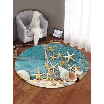 Beach Starfish Pattern Round Area Rug - BABY BLUE 60 CM (ROUND)