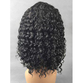 Medium Center Parting Curly Capless Synthetic Wig - BLACK