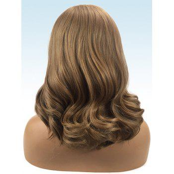 Long Side Parting Wavy Capless Synthetic Wig - CARAMEL