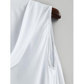 Lace-up Sleeveless Hooded Sexy Loungewear - WHITE L
