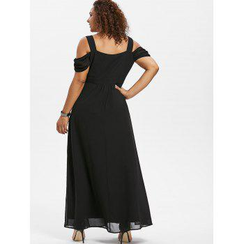Sweetheart Neck Plus Size Empire Waist Maxi Dress - BLACK 2X