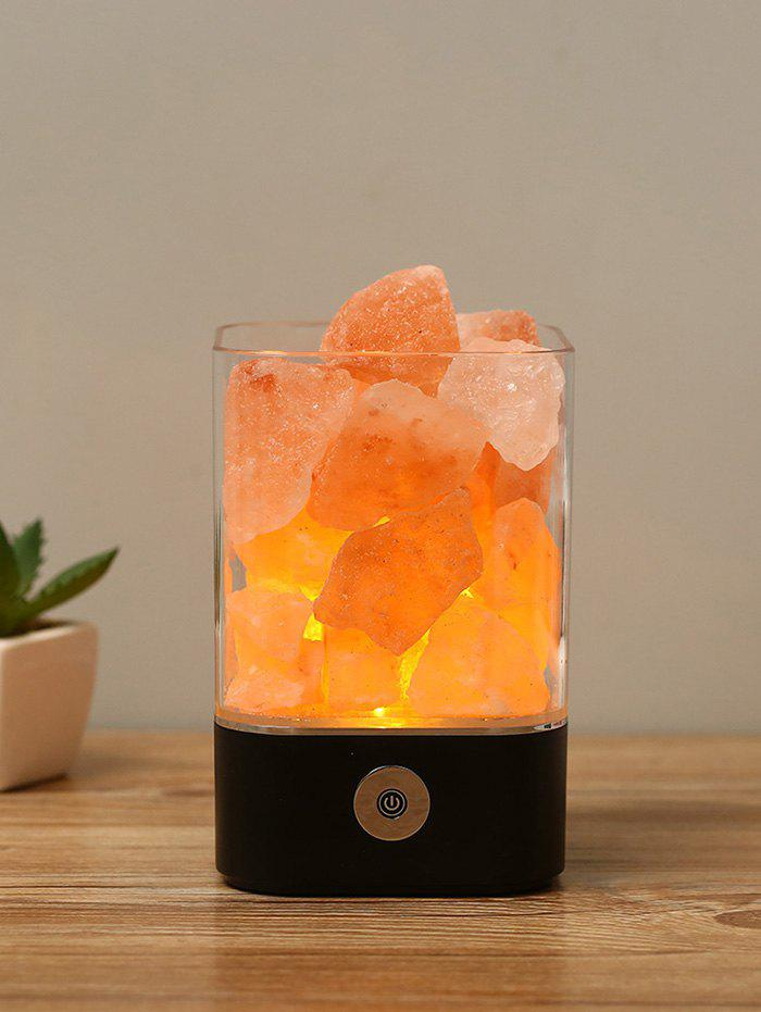 Color Changing USB Rock Salt Light - BLACK