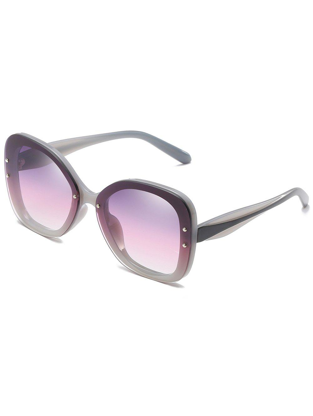 Retro Full Frame Rivets Sun Shades Sunglasses - VIOLA PURPLE