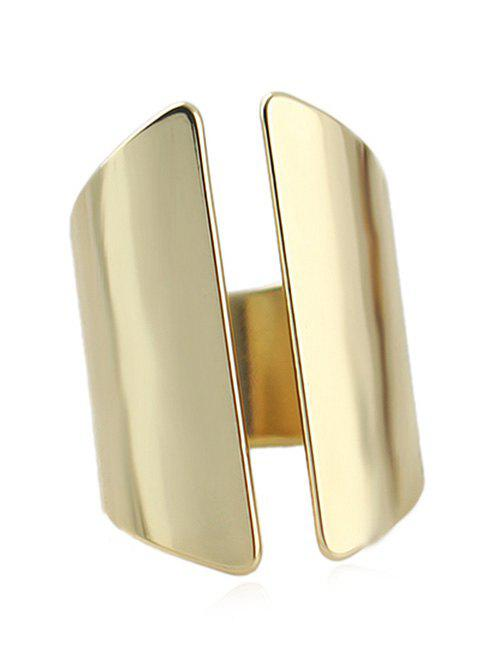 Punk Geometric Open Ring - GOLD ONE-SIZE