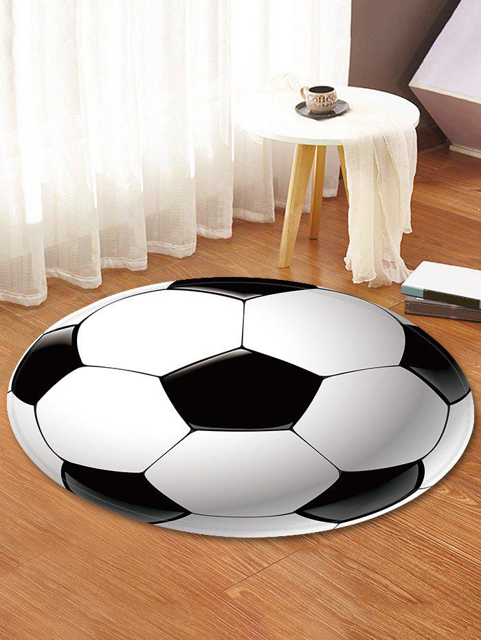 Football Pattern Round Area Rug - WHITE 120 CM (ROUND)