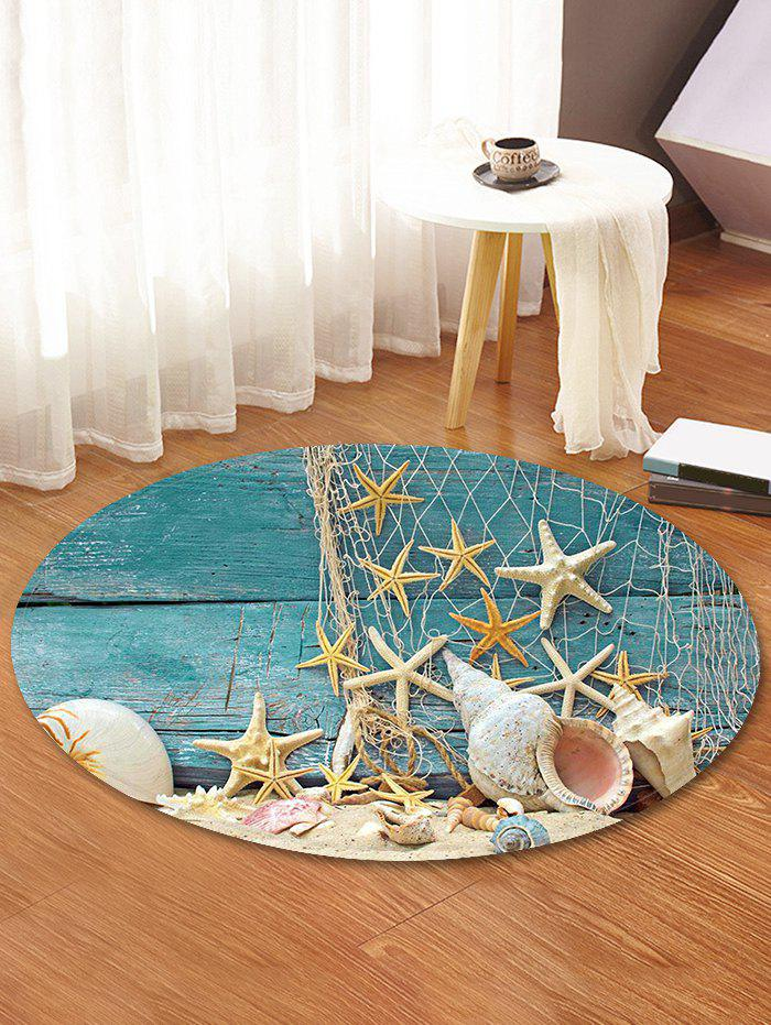 Beach Starfish Pattern Round Area Rug - BABY BLUE 80 CM (ROUND)