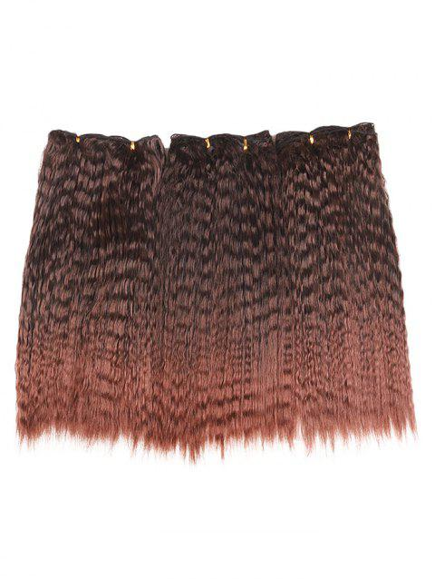3Pcs Medium Colormix Corn Hot Curly Synthetic Hair Extensions - multicolor 16INCH*16INCH*16INCH