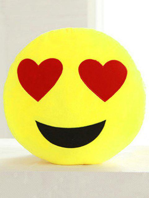 Cartoon Smile Face Emoticon Print Pillow Case - RED