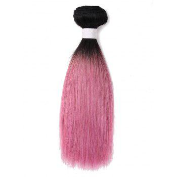 Gradient Straight Indian Human Hair Weave - multicolor 14INCH
