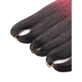 Long Ombre Straight Synthetic Hair Extensions - multicolor 26INCH*26INCH*26INCH