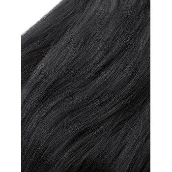 Long Straight Synthetic Fiber Hair Extensions - BLACK 22INCH*22INCH*22INCH