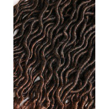 Crochet Dreadlock Braids Gradient Curly Hair Extensions - multicolor 20INCH*20INCH*20INCH