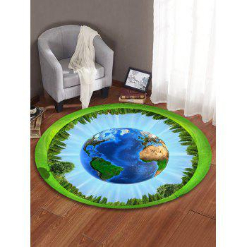 Earth Forest Pattern Round Area Rug - DAY SKY BLUE 80 CM (ROUND)