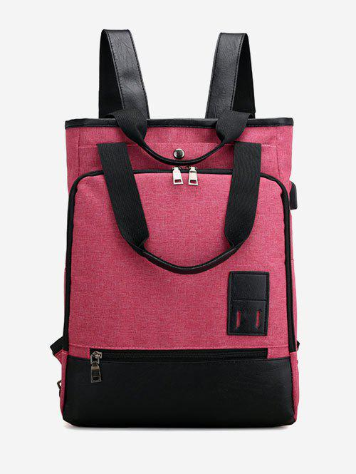Multi Functions Panel Outdoor Backpack - ROSE RED