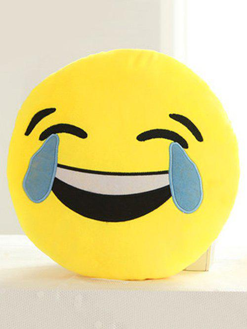 Cartoon Smile Face Emoticon Print Pillow Case - BABY BLUE