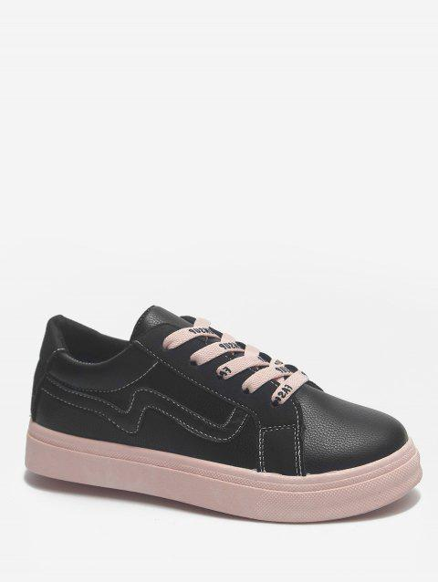 Color Block Leisure Shopping Stitching Sneakers - BLACK 37