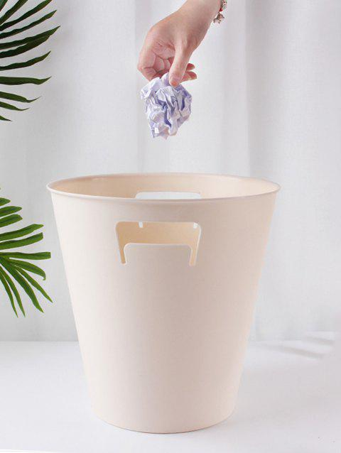 Solid Color Trash Can for Bedroom - LIGHT KHAKI