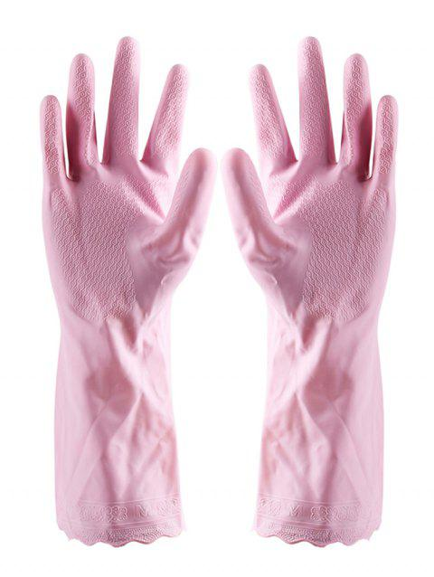 Reusable Kitchen Tools Wash Gloves - LIGHT PINK 31*10CM