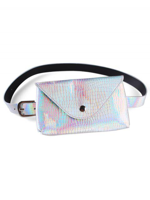 Unique Funny Bag Artificial Leather Belt Bag - SILVER
