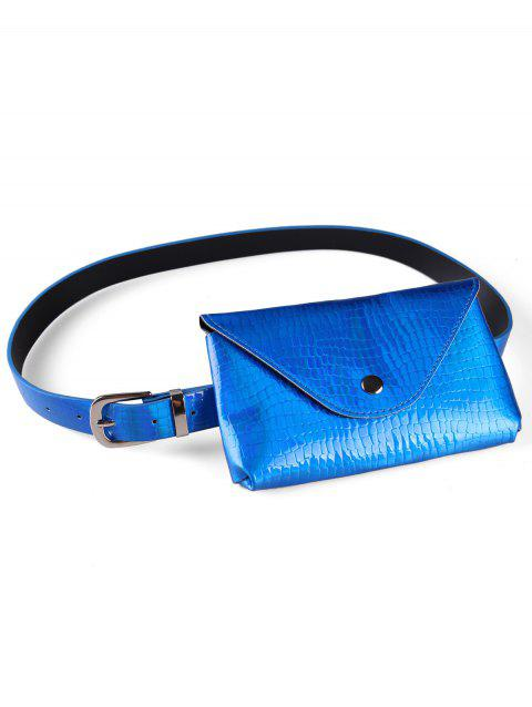 Unique Funny Bag Artificial Leather Belt Bag - BLUE