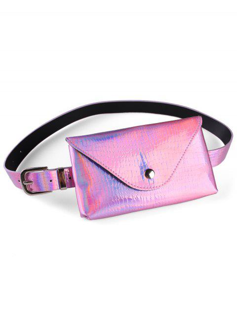 Unique Funny Bag Artificial Leather Belt Bag - PINK