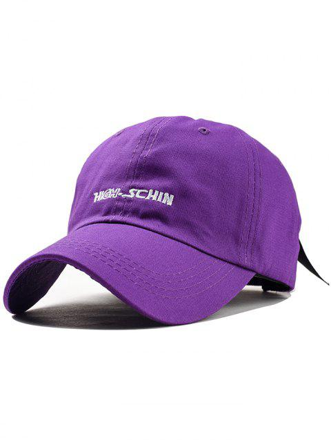 Stylish Letter Embroidery Breathable Trucker Hat - PURPLE