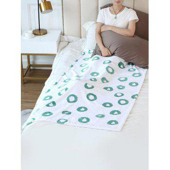 Geometric Round Print Flannel Soft Bed Blanket - multicolor W31 INCH*L59 INCH