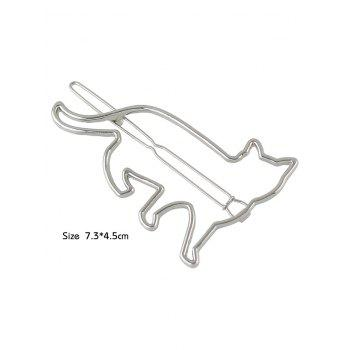 Kitty Design Hair Clip - SILVER