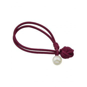 Simple Faux Pearl Hair Band - RED