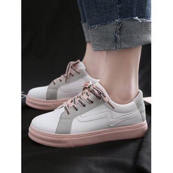 Color Block Leisure Shopping Stitching Sneakers - WHITE 39