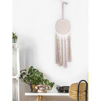 Tassel Handmade Dream Catcher Wall Hanging - WARM WHITE 85*20CM