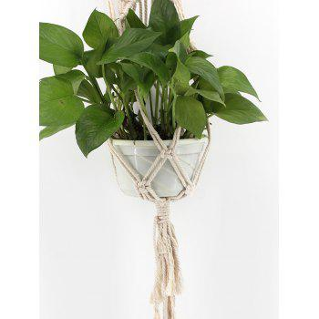 Macrame Plant Hanger Planter Basket Braided Craft - WARM WHITE 110*10CM