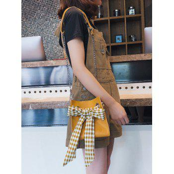 Casual Bowknot Decoration 2 Pieces Crossbody Bag Set - YELLOW