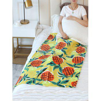 Pineapple Flannel Soft Bed Blanket - multicolor W59 INCH * L79 INCH