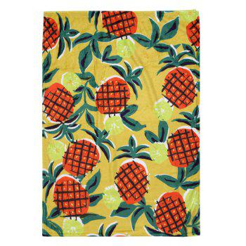 Pineapple Flannel Soft Bed Blanket - multicolor W51 INCH*L59 INCH