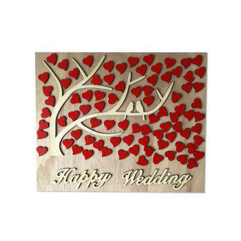 Heart Sign Wooden Wishing Tree Wedding Decor - CORNSILK