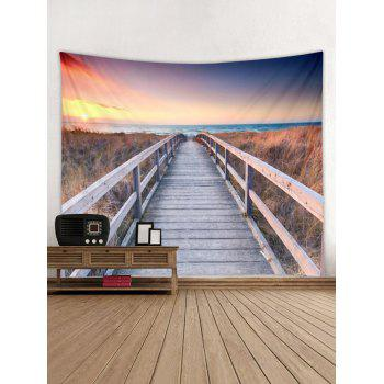 Sunset Scene Print Wall Tapestry Hanging Decor - multicolor W79 INCH * L71 INCH