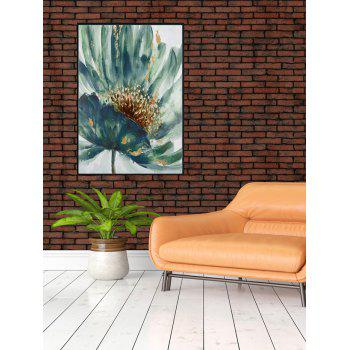 DIY Frame Flower Printed Detachable Wall Painting - multicolor 14*20 INCH