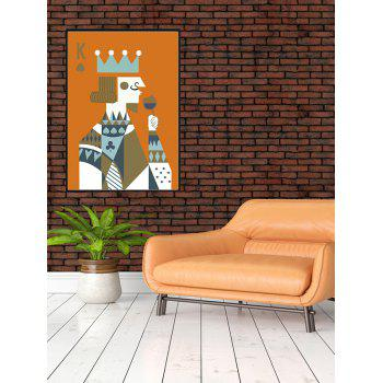 DIY Frame Abstract Pattern Wall Painting - multicolor 14*20 INCH
