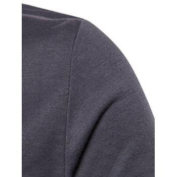 Cowl Collar Anomalous Hem Tee Shirt - DARK GRAY L