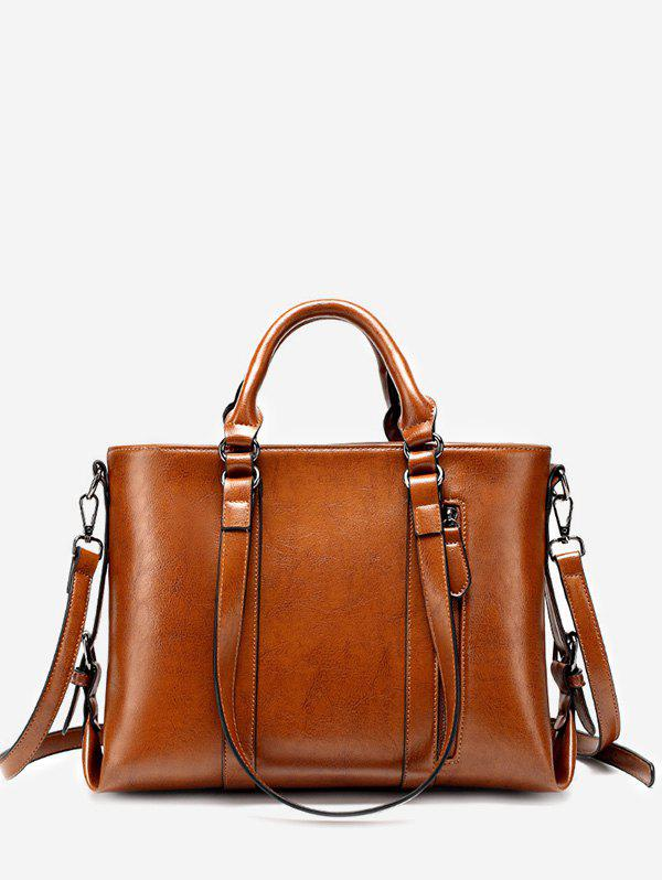 Multi Function Chic Minimalist Daily Tote Bag - BROWN HORIZONTAL
