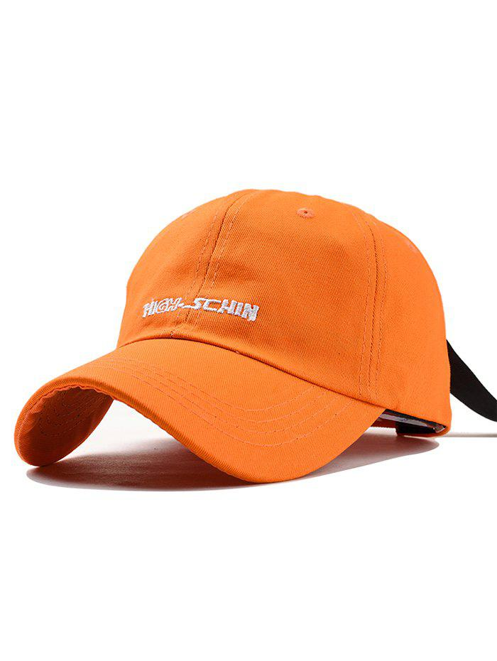 Stylish Letter Embroidery Breathable Trucker Hat - ORANGE