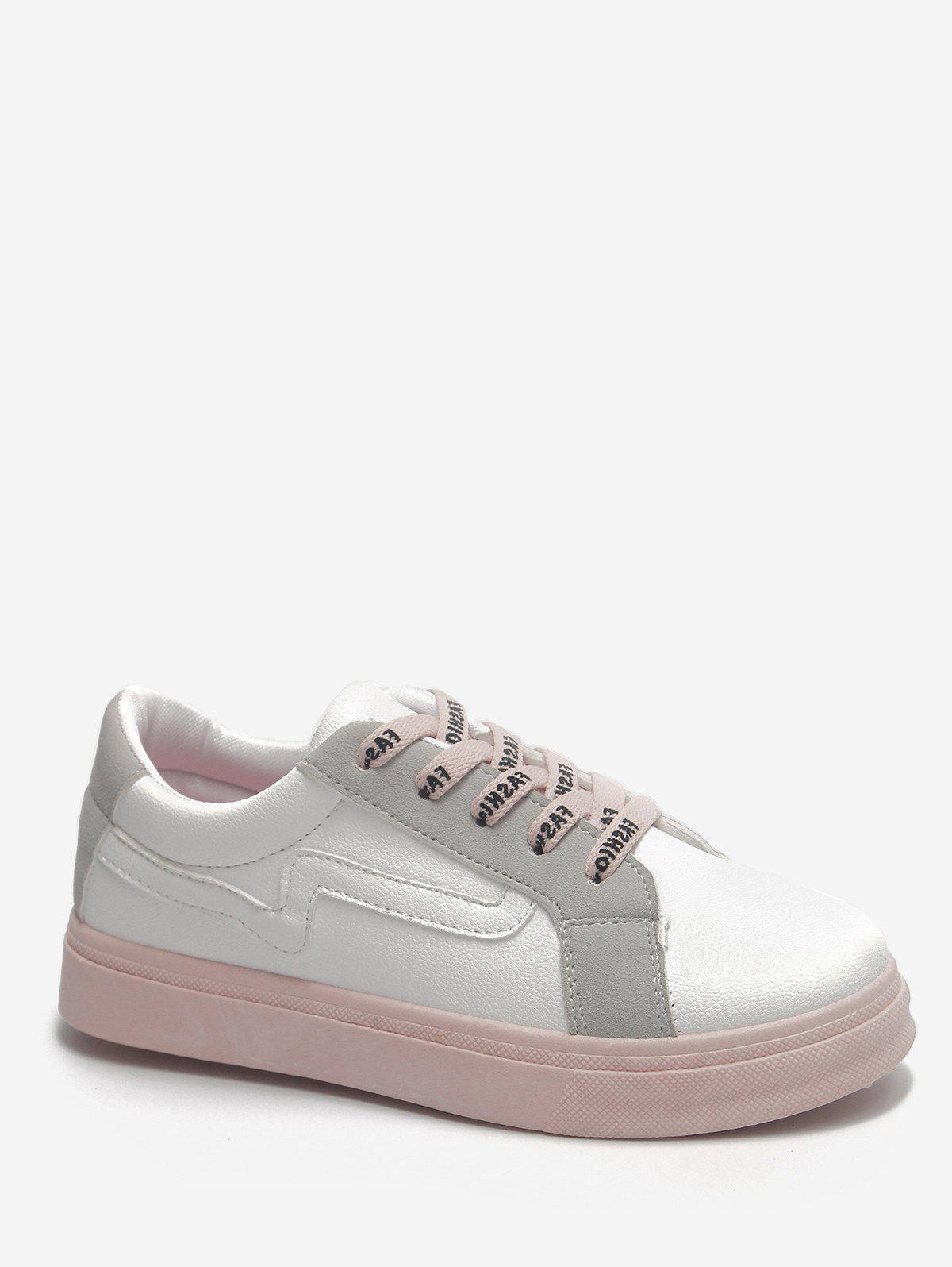 explore cheap online free shipping shop offer Color Block Stitching Sneakers - White 37 fashion Style for sale DUiAF