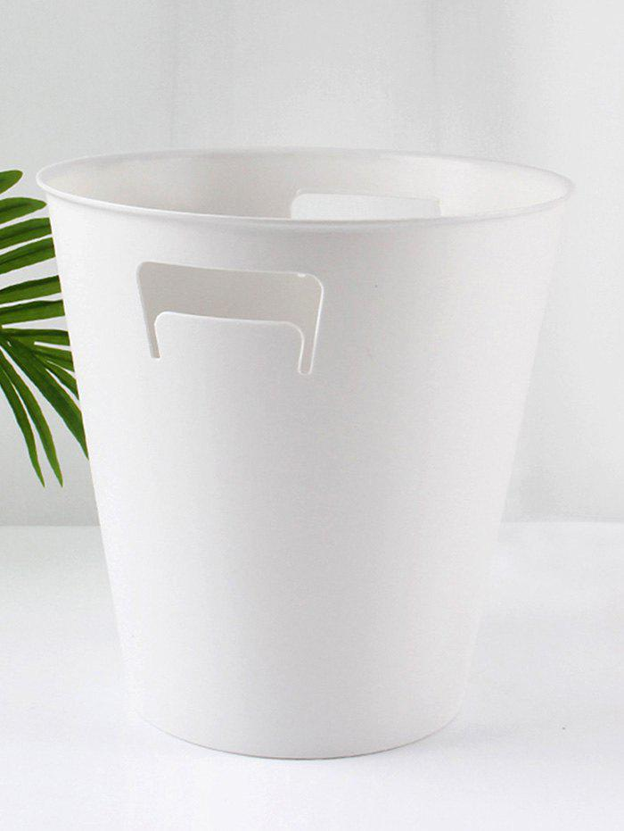 Solid Color Trash Can for Bedroom - WHITE