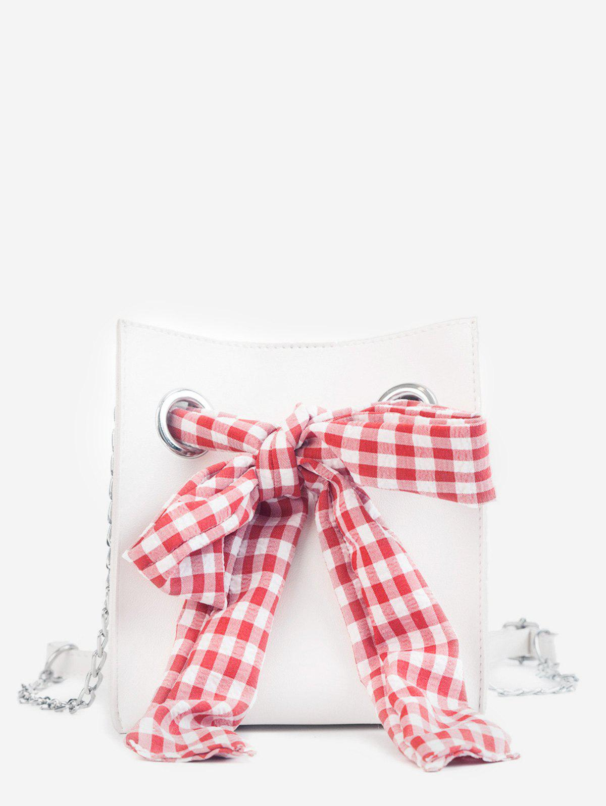 Casual Bowknot Decoration 2 Pieces Crossbody Bag Set - WHITE