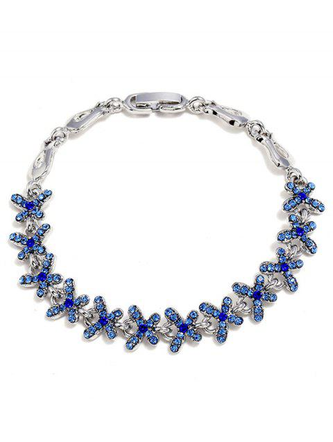 Rhinestone Butterflies Decoration Alloy Bracelet - SAPPHIRE BLUE